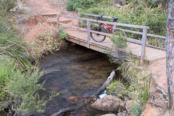 Munda Biddi trail crosses Icy Creek